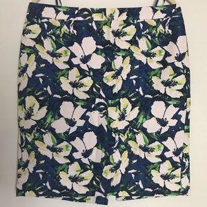 J Crew Floral Pencil Skirt